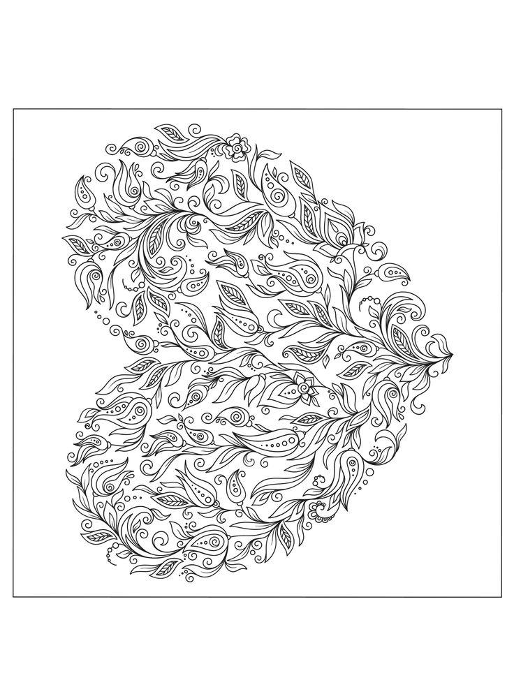 17 best ideas about paisley coloring pages on pinterest coloring mandala coloring pages and - Coloriage gratuit pour adulte ...