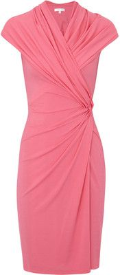 Paule Ka Gathered Stretch Crepe Jersey Dress - Polyvore