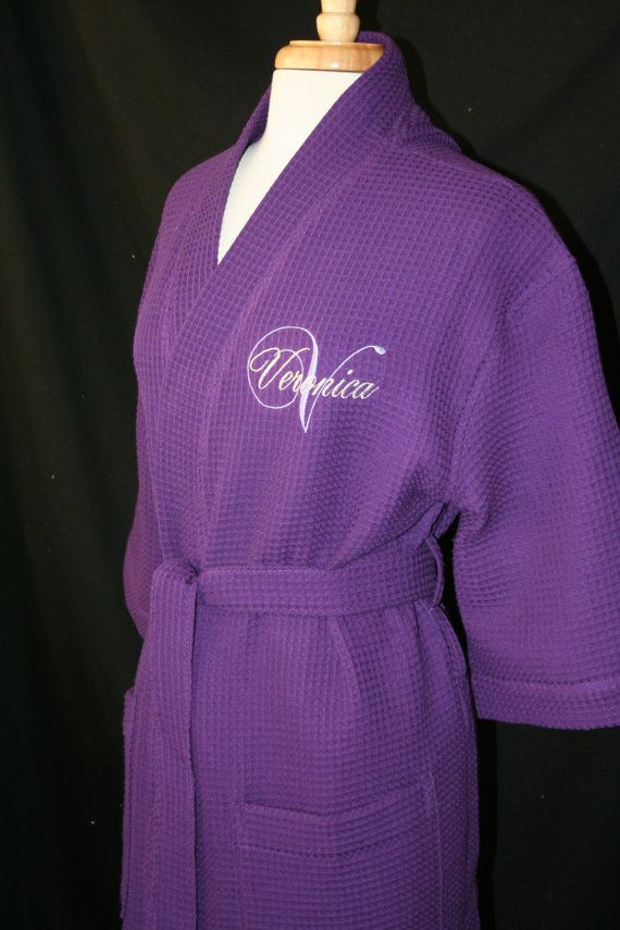 PERSONALIZED Waffle Weave Spa or Bath Robe by EmbroideryMark, $29.00 Available in 9 colors www.embroiderymark.etsy.com