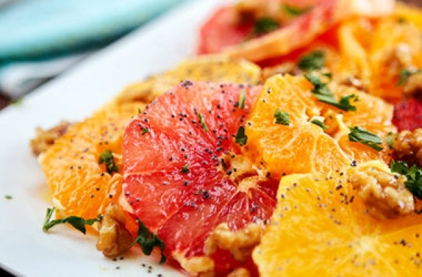 Citrus Salad with Poppy Seed Dressing | I love food. | Pinterest