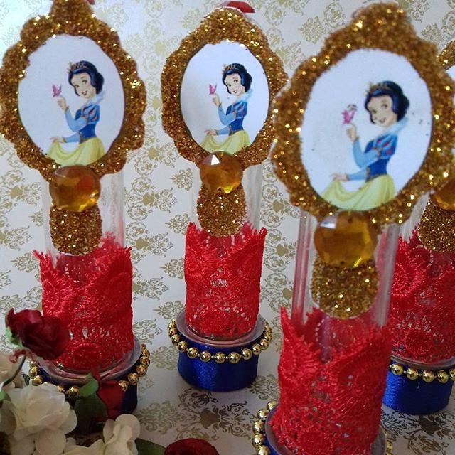 Amei ❤️ esse Tubete com espelho em glitter e todo em detalhes de renda para lembrancinhas de aniversário ...