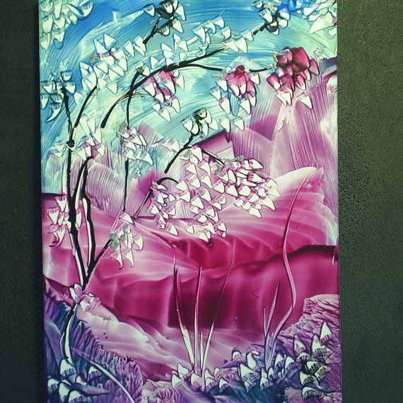encaustic fantasy painting by teabreaks on Etsy, $5.00