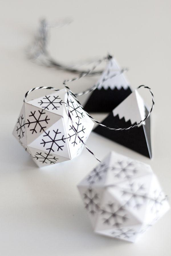 Passion Shake | 24 Monochrome Christmas ideas | http://passionshake.com