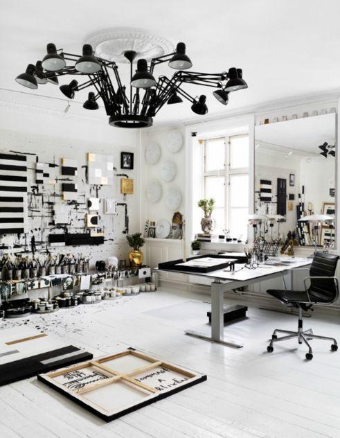 This is tenka gammelgaard's studio..that light!!!!