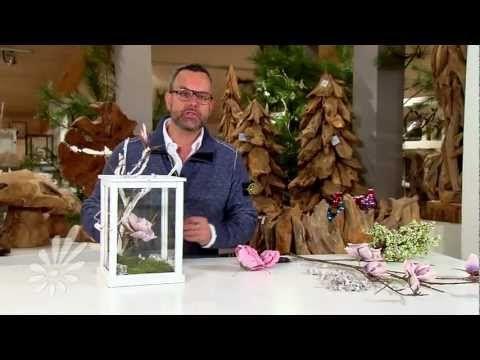 Lantaarn decoreren met takken en bloemen met Romeo Sommers