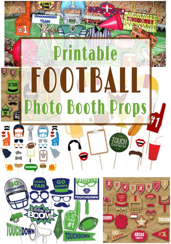 Printable Football Photo Booth Props