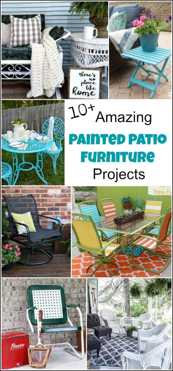Painting Outdoor Furniture For A Beautiful Quick Update Painted Outdoor Furniture Used Outdoor Furniture Outdoor Furniture Makeover