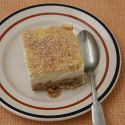 Grape-Nuts Pudding: cereal is the main ingredient in this dessert -introduced in 1897 at the height of a health craze inspired by dietary reformer Sylvester Graham. In this recipe, based on one first published in Yankee magazine, the cereal settles in the pan to create a tasty bottom layer. [click for recipe]