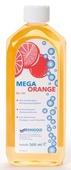 Mega Orange RG 707 löst die schwierigsten Aufgaben wie z. B. das Entfernen von Kaugummi, Farbflecken, verharzten Fetten, Tinten- oder Kugelschreiberflecken u.v.m. In konzentrierter Form ist Mega Orange RG 707 auch als Geruchsvernichter z. B. In Mülltonnen oder im WC-Bereich, unschlagbar. Das Produkt hinterlässt einen angenehmen Duft von Orangen- und Citrusölen.