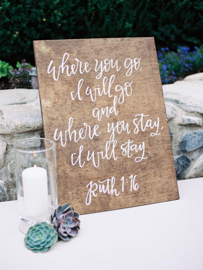 Wooden wedding sign: http://www.stylemepretty.com/arizona-weddings/2017/02/15/arizona-desert-inspired-wedding/ Photography: Rachel Solomon - http://rachel-solomon.com/