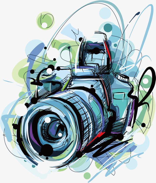 Vector Camera Camera Drawing Camera Illustration Camera Painting