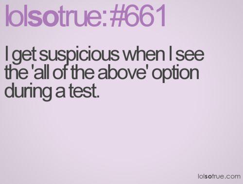 lol so true quotes | suspicious, test, pink, lolsotrue, lol so true, sotrue, quote, quotes ...