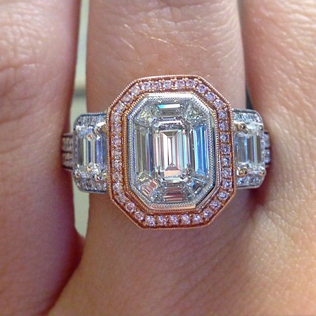 Emerald cut engagement ring by Simon G. Simon G is my absolute favorite jeweler--the real business.