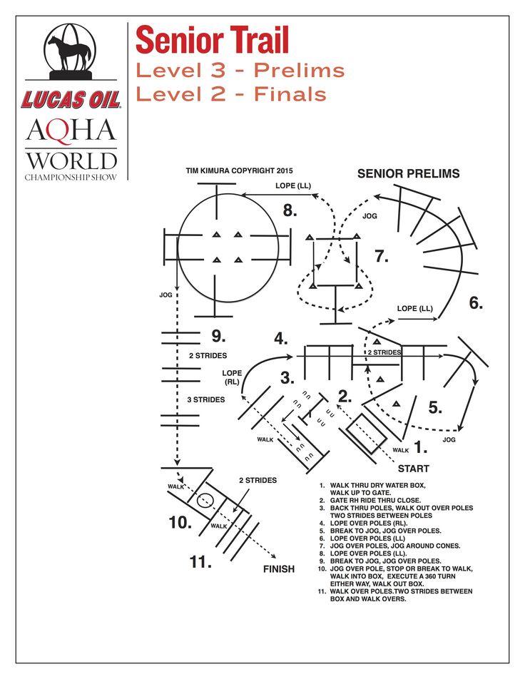 Senior trail prelims pattern for the 2015 Lucas Oil AQHA World Championship Show