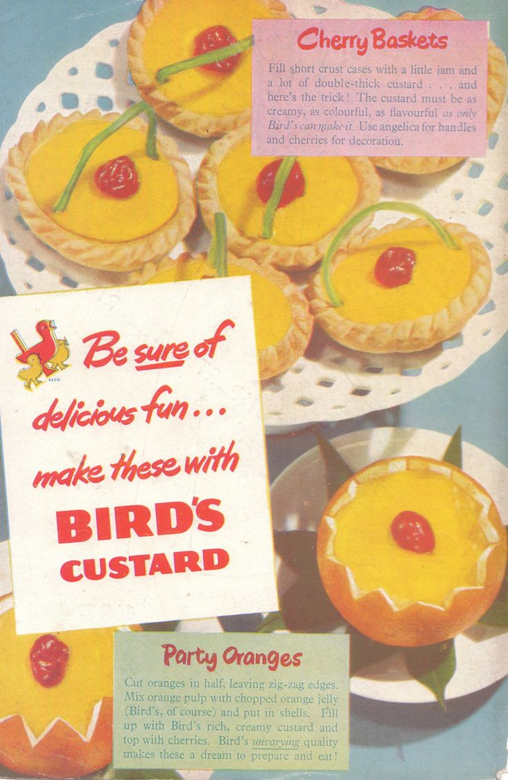 Original Vintage Advert Bird's Custard Print 1950 by FattyandBaldy on Etsy