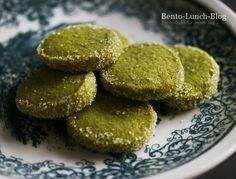 Bento Lunch Blog: Rezept: Matcha Mürbteig-Kekse