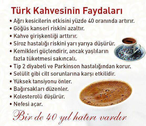 Türk kahvesinin faydaları;