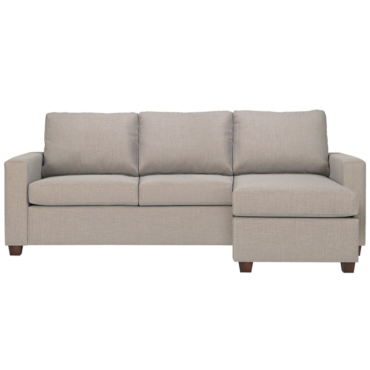 Newport 3 seater fabric queen 4 innerspring sofa bed with for Shale sofa bed