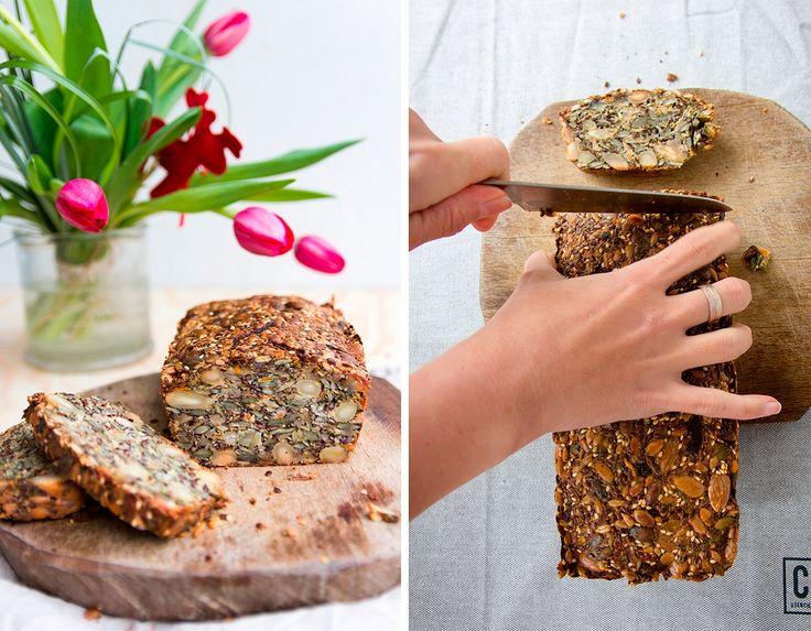 Ořechy, semínka, cibule - chleba