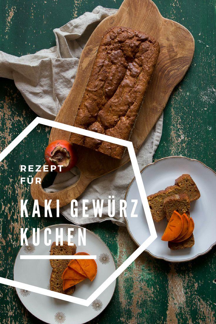Kaki Rezept: Kaki-Gewürzkuchen mit Zimt und Persimon. Ein super geiler Kastenkuchen mit der Kaki Frucht. Schnell und einfach zu backen und perfekt für reife Kakis. Gesund und lecker!  #kaki #kastenkuchen