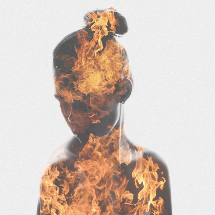 "Double Exposure Image ""Do not let your fire go out, spark by irreplaceable"