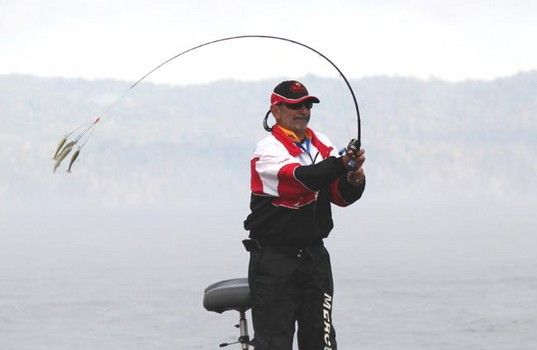 Year In Review Alabama Rig sets the fishing world on fire  Same old dog, new tricks.  It's been awhile since something spectacular and new came along in fishing world and The Alabama Rig, also known as the umbrella rig, is one of the those old lures that came back with a whopping popular bang thanks to Bass Fishing Professional Paul Elias Laurel MS in  an FLW Outdoors tournament October 2011  http://www.examiner.com/article/year-review-alabama-rig-sets-the-fishing-world-on-fire