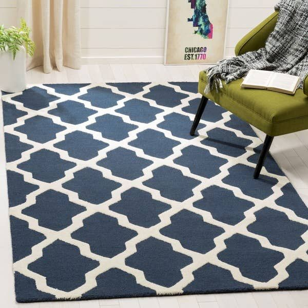 Overstock Com Online Shopping Bedding Furniture Electronics Jewelry Clothing More Area Rugs Geometric Area Rug Blue Wool Rugs