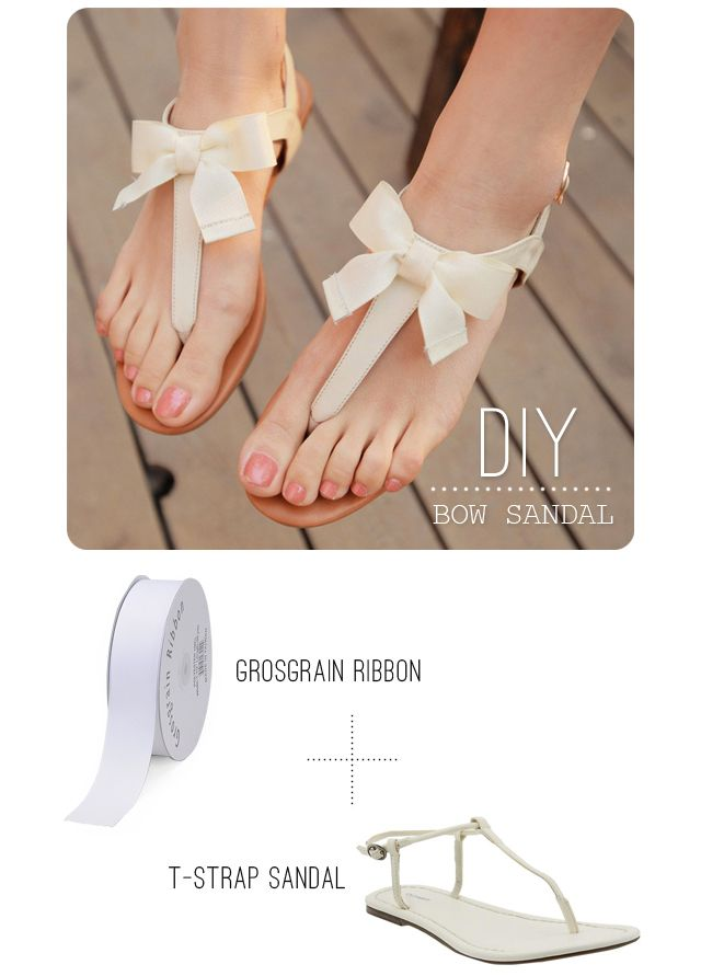 DIY Bow Sandal: Idea, Bow Sandals, Diy'S, Diy Sandal, Diy Craft, Bows