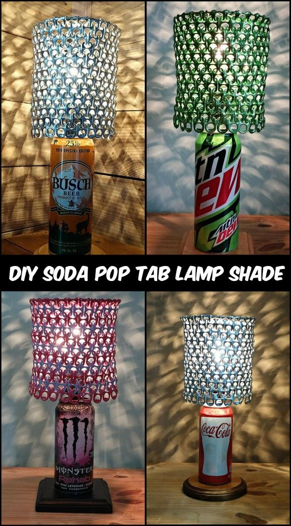 Turn Trash to Treasure by Turning Soda Pop Tabs Into a Lamp Shade