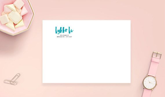 Mint Return Address Labels 2 5/8 x 1 Glossy Clear by HeartsRoots
