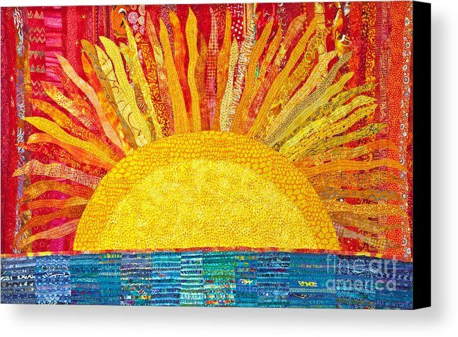 Solar Rhythms Canvas Print Canvas Art By Susan Rienzo In 2021 Art Sun Art Rhythm Art