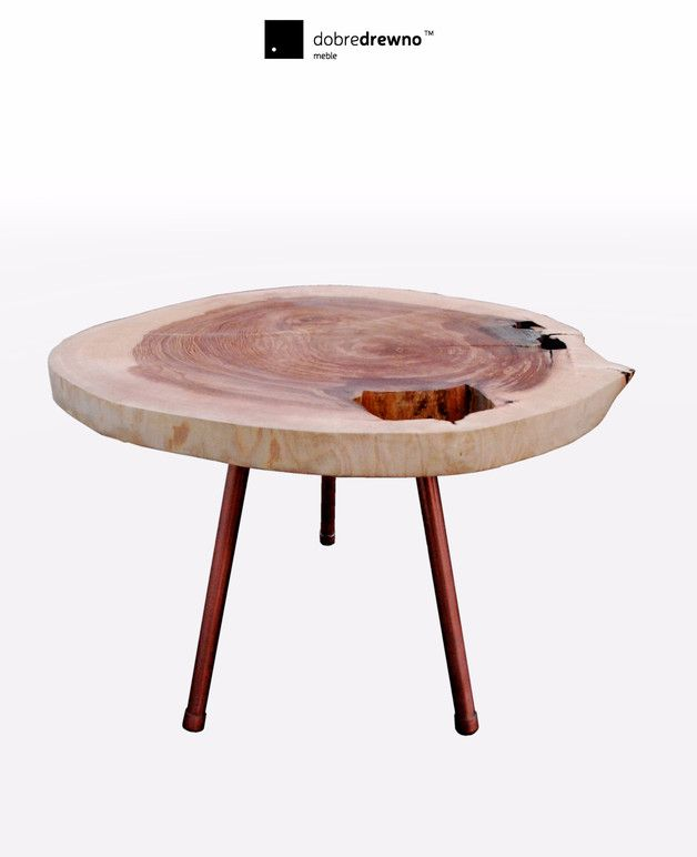 Coffee Tables – A coffee table on a classic 3 legs – a unique product by dobredrewno on DaWanda