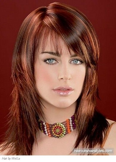 long hairstyle highlights two tone brown red | funky long red hair highlights long hairstyles gallery