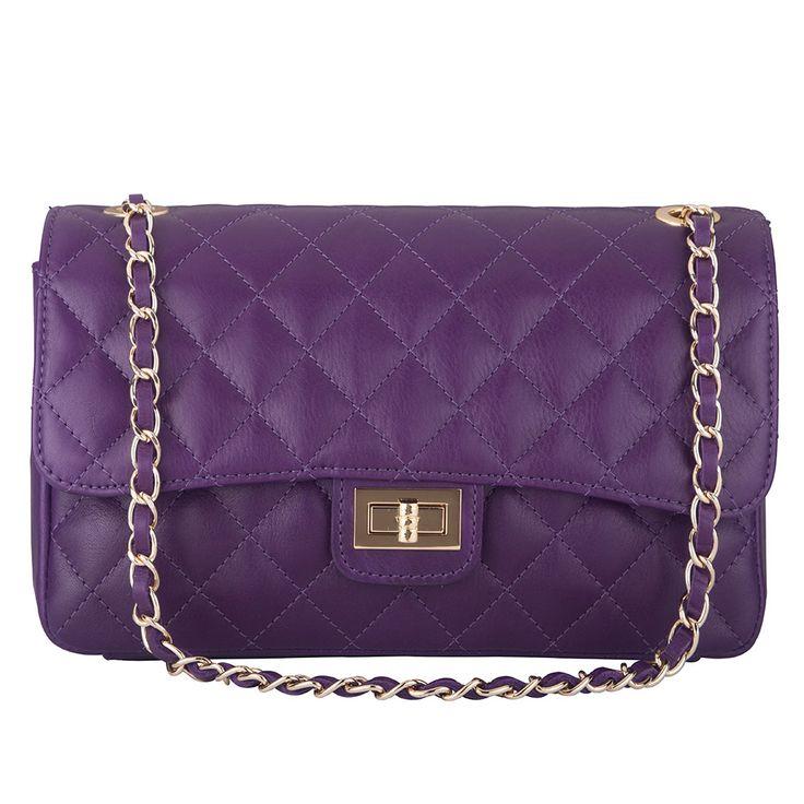Marlafiji Bianca Purple Quilted Italian leather shoulder bagwww.marlafiji.comFREE SHIPPING WITHIN AUSTRALIA