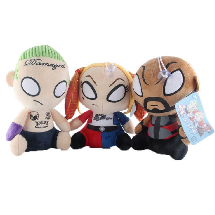 Harley Quinn Deadshot Jocker Plush Toy Doll //Price: $14.40 & FREE Shipping //     #arkhamknight #superman #wonderwoman #thedarkknight #superheroes #harley #margotrobbieharleyquinn