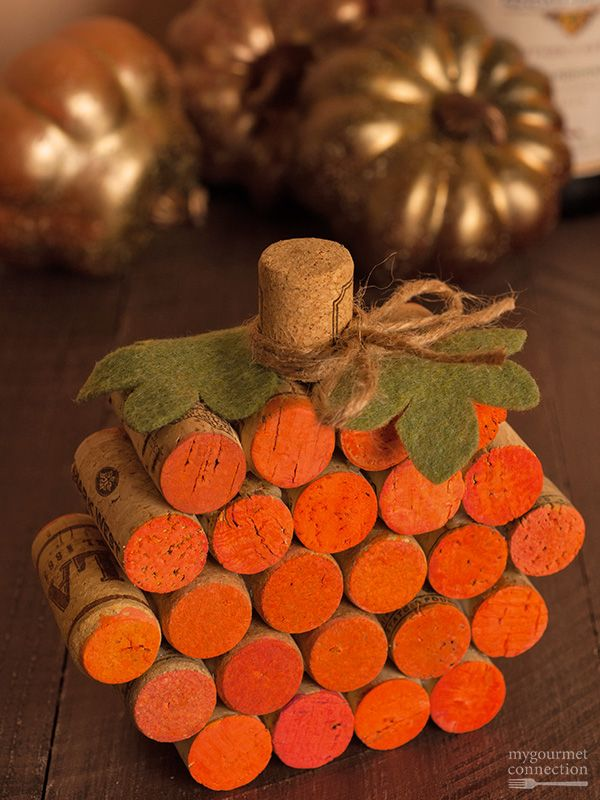 How to Make a Wine Cork Pumpkin