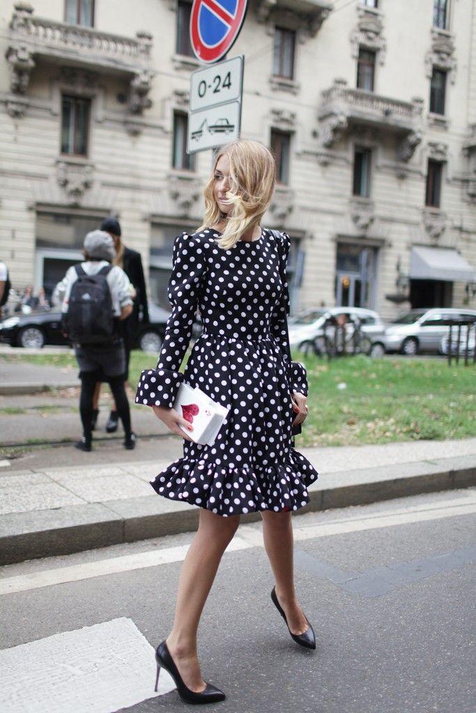 Milan Fashion Week Spring Summer 2014 [Photo by Kuba Dabrowski]. Prints in street style