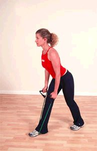Standing Rows with Resistance Band