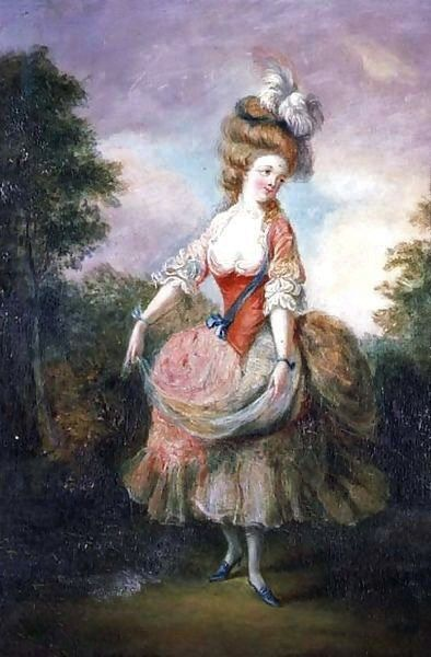 Jean-Frederic Schall (French painter, 1752-1825) Dancer with a Feather Hat 1780s