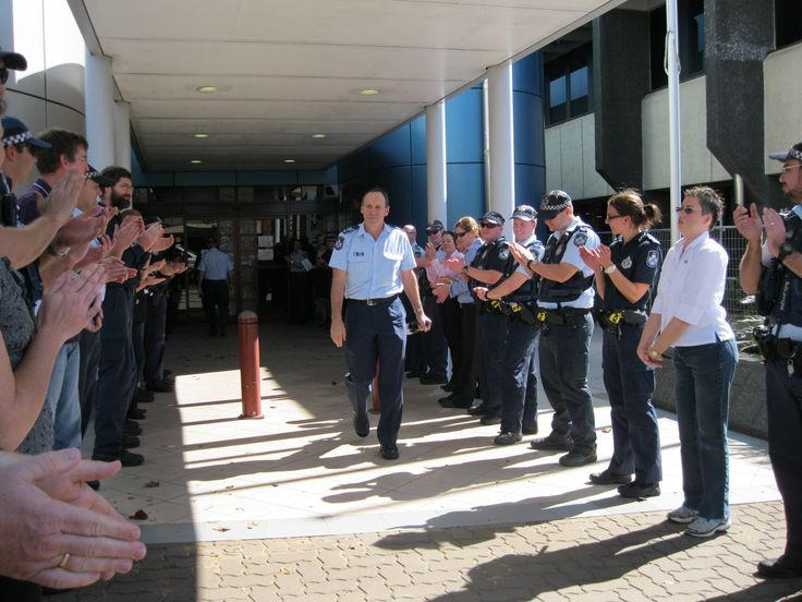 Toowoomba police said farewell to Sergeant Vern Holcombe. After more than 31 years of service to the people of Queensland, Sergeant Holcombe has donned his uniform for the last time, retiring after a long and honourable career with the Queensland Police Service.
