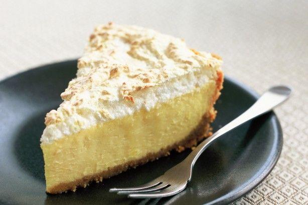 Baked lemon and coconut meringue cheesecake main image
