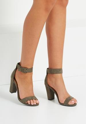 e6b581415ed6 Cotton On San Sebastian Heel Khaki Wedge Heels
