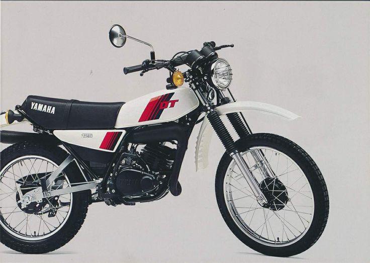 My first Motorbike. 1980 Yamaha DT125 MX. Mine was red.