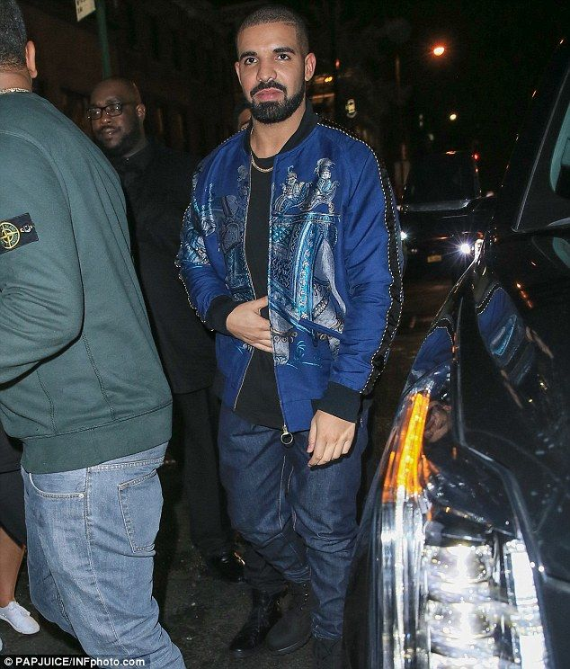 He's all loved up: Earlier on in the evening, Drake managed to make the world's…