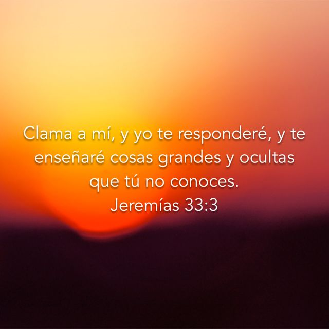 Jeremías 33:3