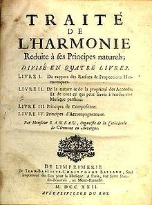 Title page of Rameau's Treatise on Harmony, 1722