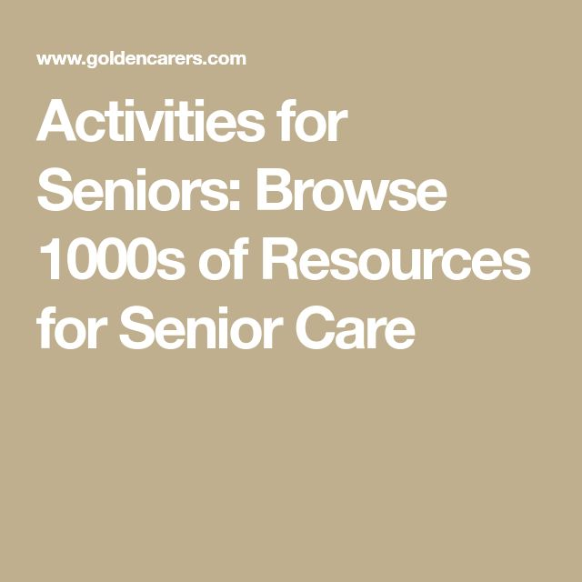 Activities for Seniors: Browse 1000s of Resources for Senior Care