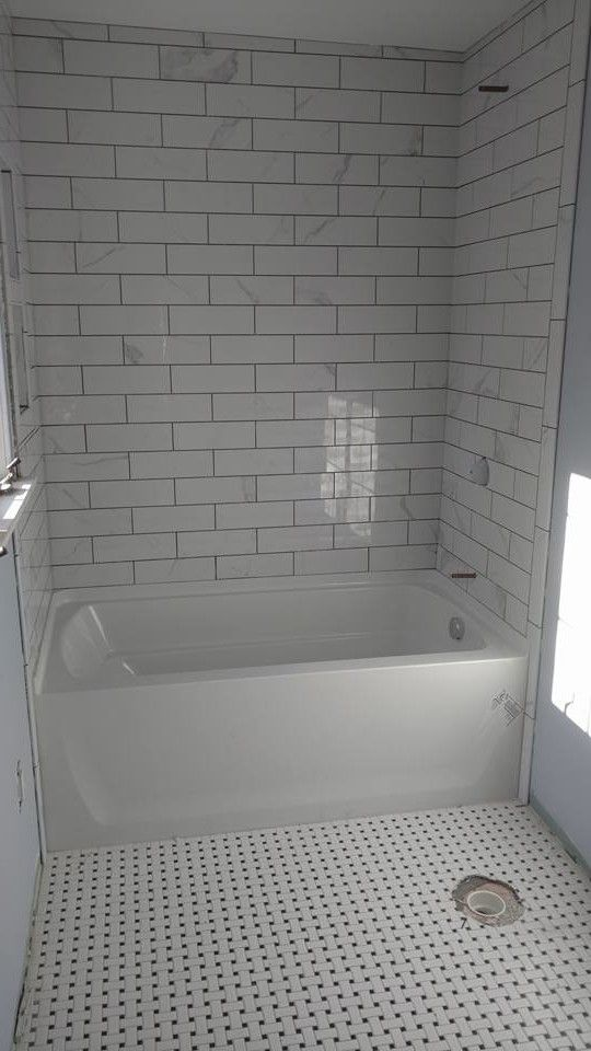 Subway Tile Bathrooms Bathroom Traditional with Penny Contemporary Showerheads and Body Sprays