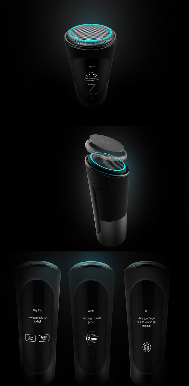 'Halo' is a smart electric shaver/trimmer combo that learns your unique mug, it adjusts to the contours of your face to ensure you get the perfect shave  each time... READ MORE at Yanko Design !