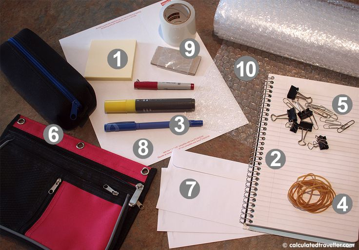 From desk to suitcase – travel supplies from office supplies via Calculated Traveller